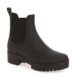 Jeffrey Campbell Cloudy Chelsea Rain Boot, Black 8